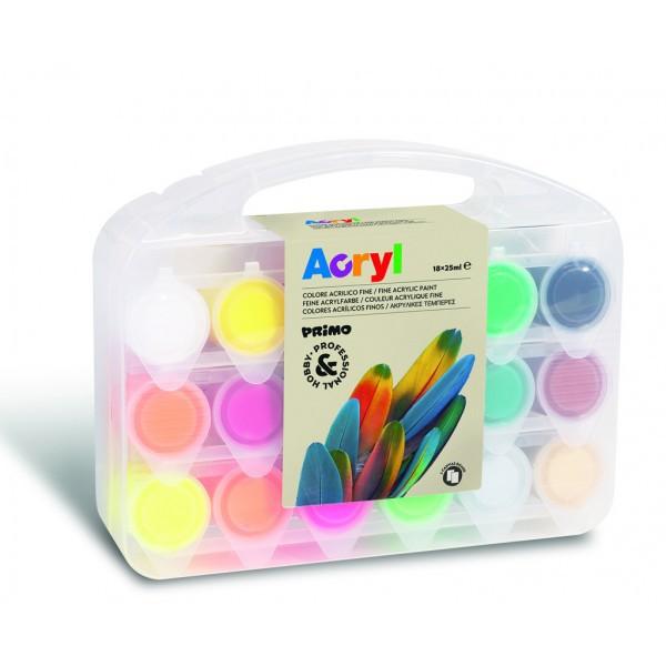 Akrylové barvy Primo 18x25ml kelímek 935772