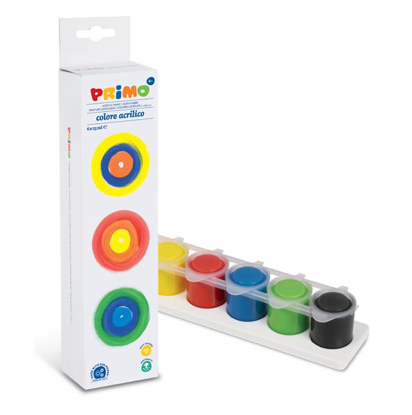 Akrylové barvy Primo 6x25ml kelímek 935565