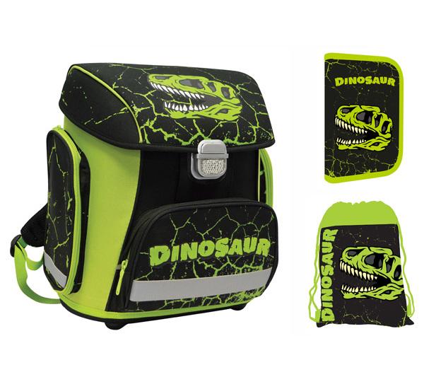 Batoh školní anatomický Premium Dino sada 934024