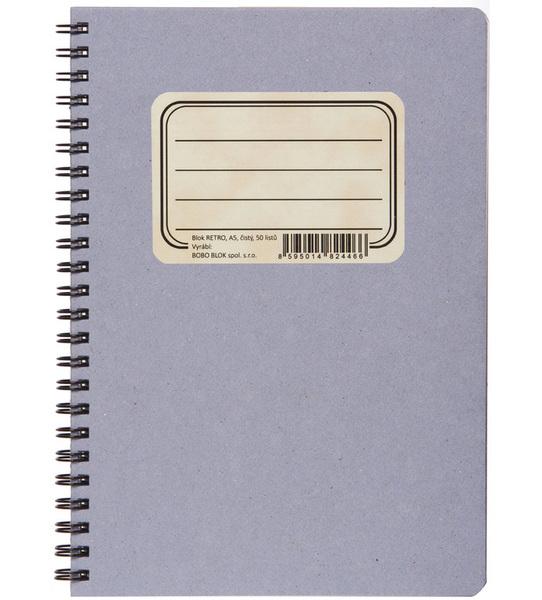 Blok spirálový A5 čistý Retro 401350