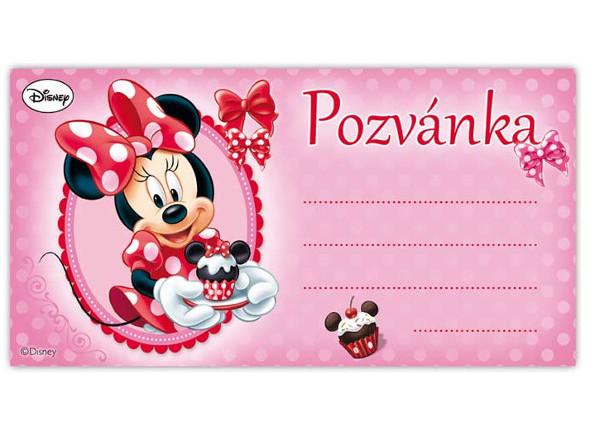 pozvánka na narozeniny dětská Dětská pozvánka Minnie 10ks pozvánka na narozeniny dětská