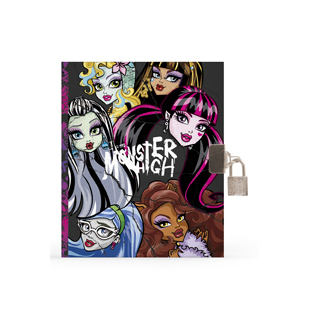Diář A5 se zámkem Monster High 302082