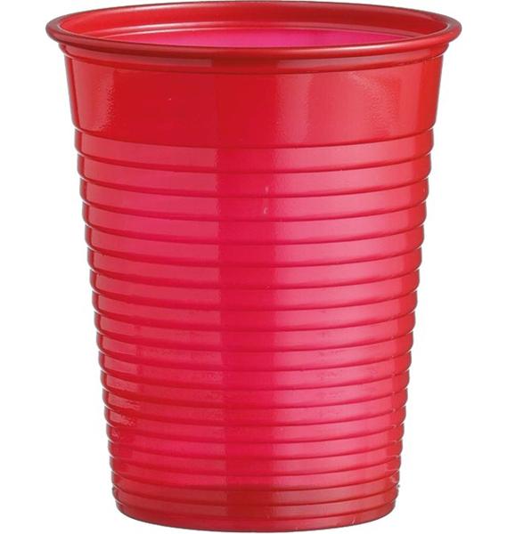 Kelímky plastové barevné 0,18l 10ks červené 956857