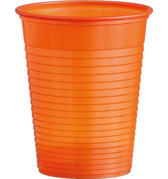 Kelímky plastové barevné 0,18l 10ks oranžové 956863