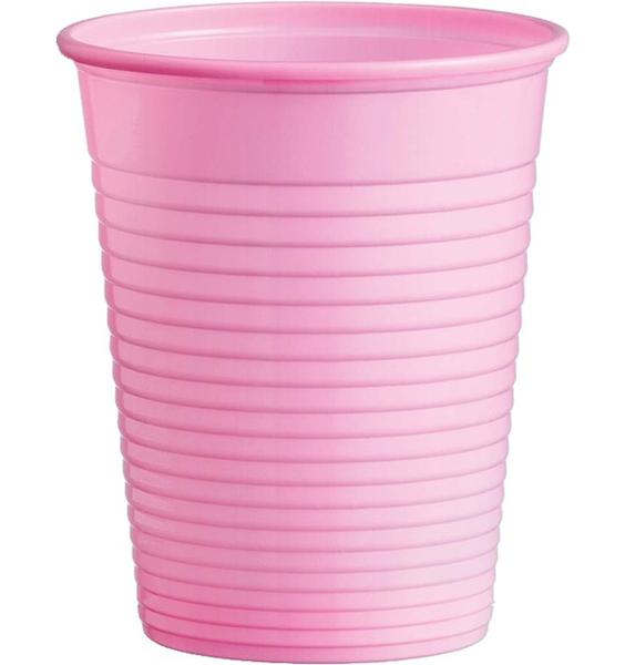 Kelímky plastové barevné 0,18l 10ks růžové 956862