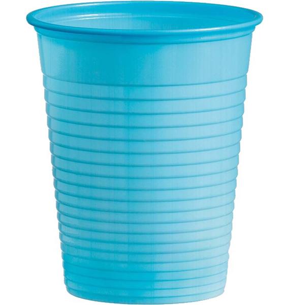 Kelímky plastové barevné 0,18l 10ks světle modré 956864