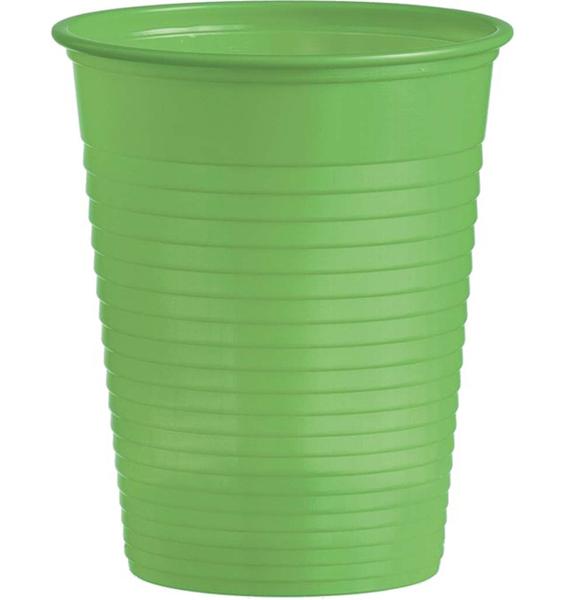 Kelímky plastové barevné 0,18l 10ks světle zelené 956866