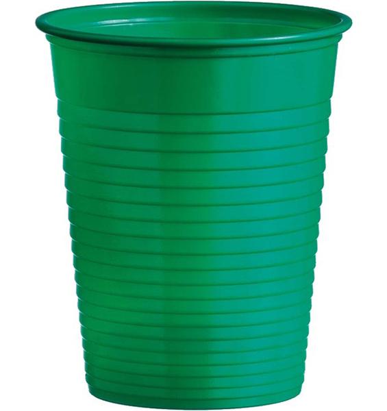 Kelímky plastové barevné 0,18l 10ks zelené 956860