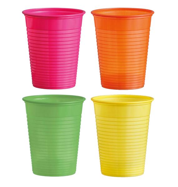 Kelímky plastové barevné 0,18l 20ks 956867