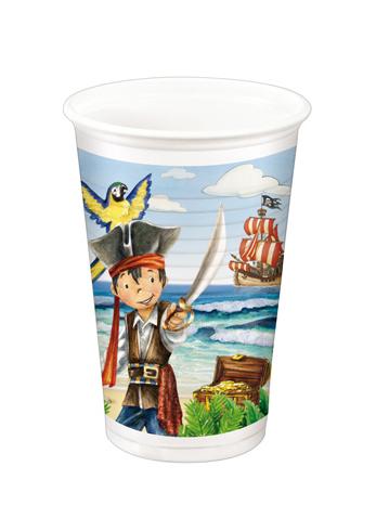 Kelímky plastové Kapitán Jack 10ks 934060