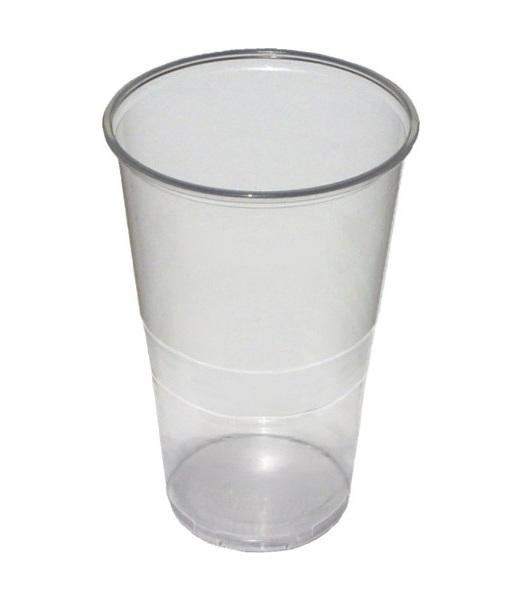 Kelímky plastové transparentní 0,5l 50ks 215020