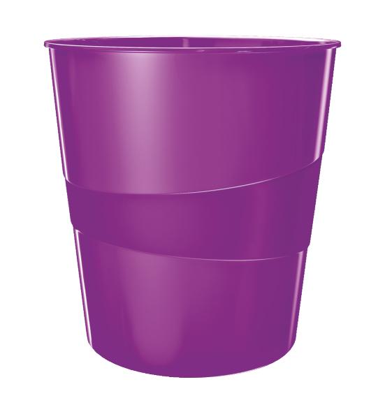 Koš odpadkový Leitz WOW fialový 401336