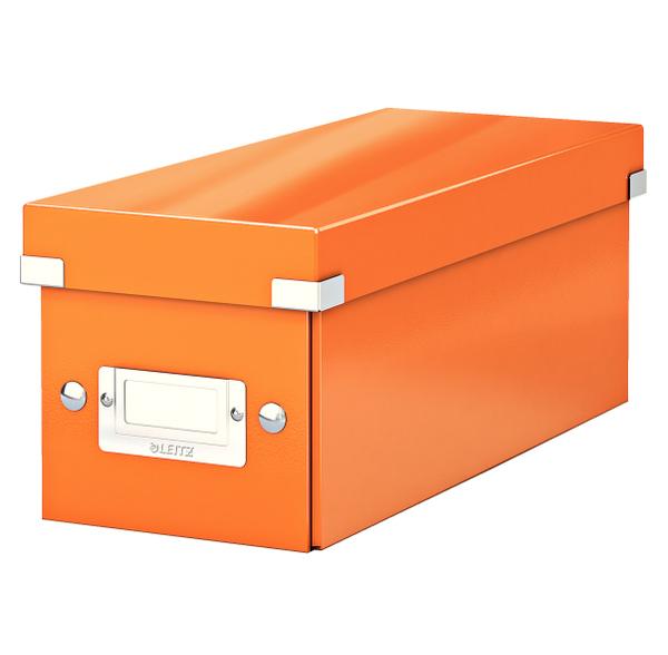 Krabice archivační CLICK-N-STORE na CD oranžová 149104