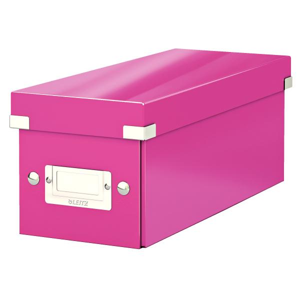 Krabice archivační CLICK-N-STORE na CD růžová 149105