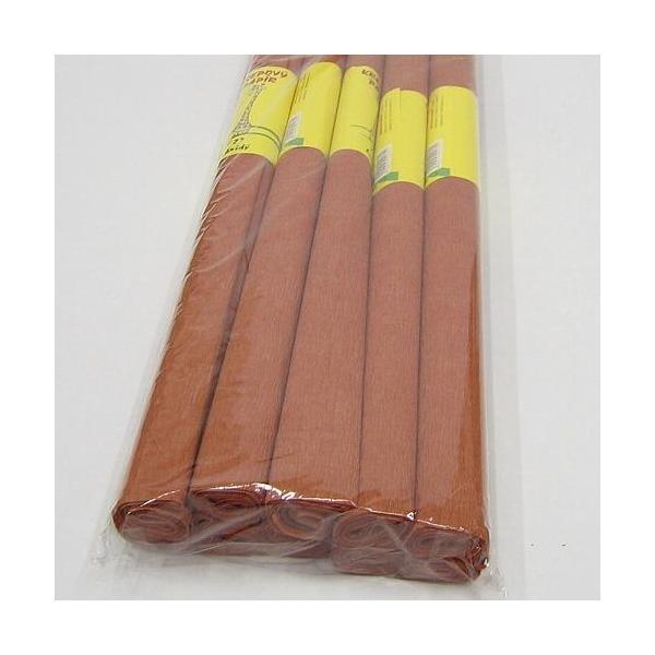 Krepový papír hnědý 0020162