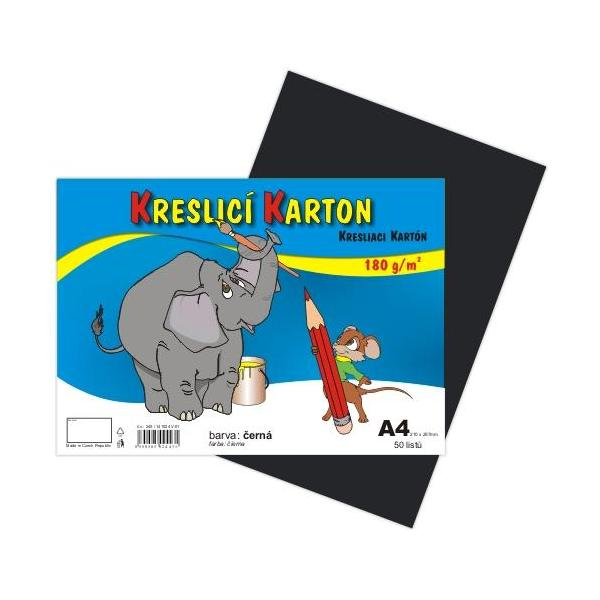 Kreslicí karton A4 - černý 912399