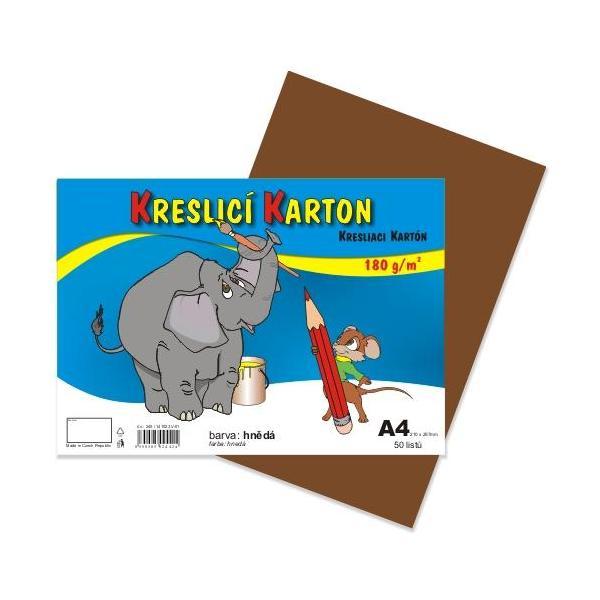Kreslicí karton A4 - hnědý 912398