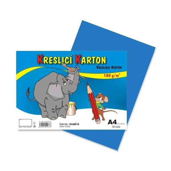 Kreslicí karton A4 - modrý 912395