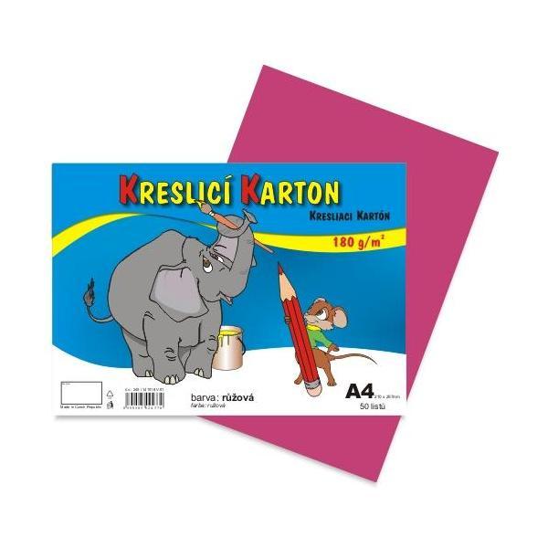 Kreslicí karton A4 - růžový 912397