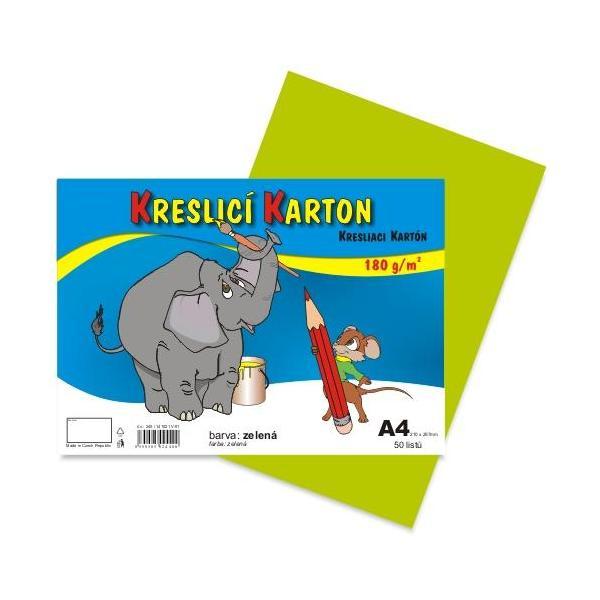 Kreslicí karton A4 - zelený 912396