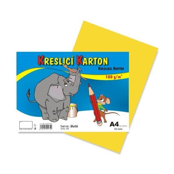Kreslicí karton A4 - žlutý 912393