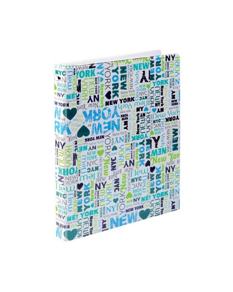 Kroužkový blok karis A5 plastik New York 401279
