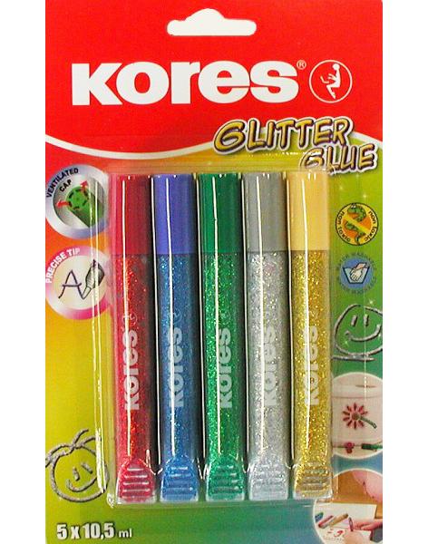 Lepidlo Kores Glitter Glue 5 barev 930273