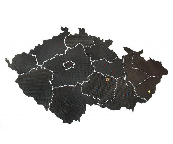 Mapa ČR nástěnka 215x120 cm 303125