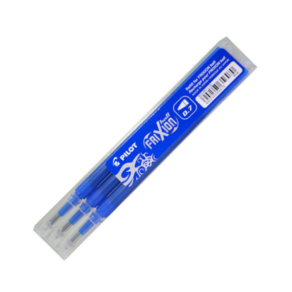 Náplň do rolleru FRIXION modrá 3ks 199079
