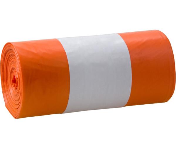 Odpadkové pytle zatahovací oranžové 120l 20ks 401573