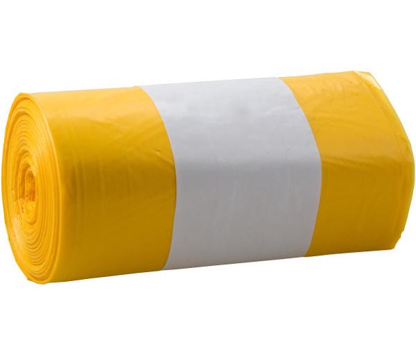 Odpadkové pytle zatahovací žluté 120l 20ks 401572