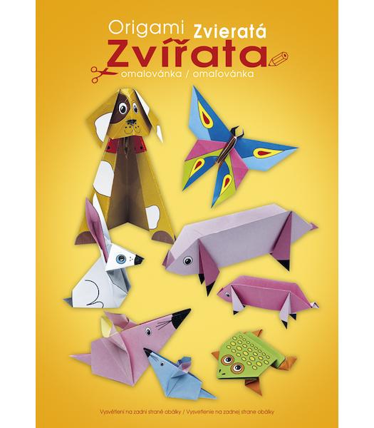 Omalovánka A4 s vystřihovánkami Origami zvířata 933837