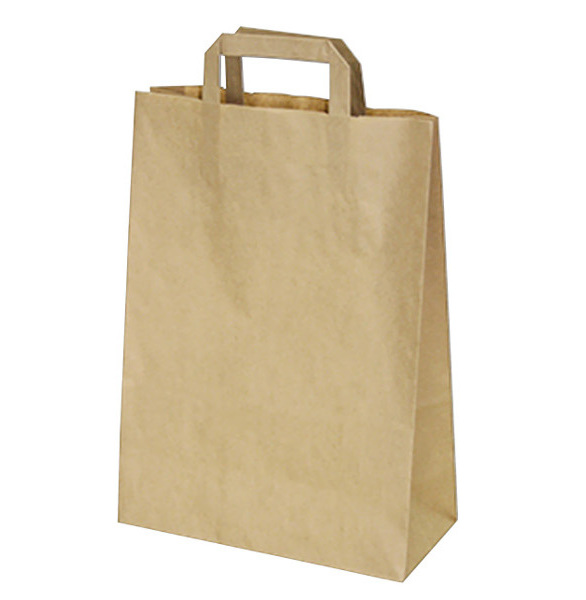 Papírové tašky 26x12x36cm hnědé 50ks 219650