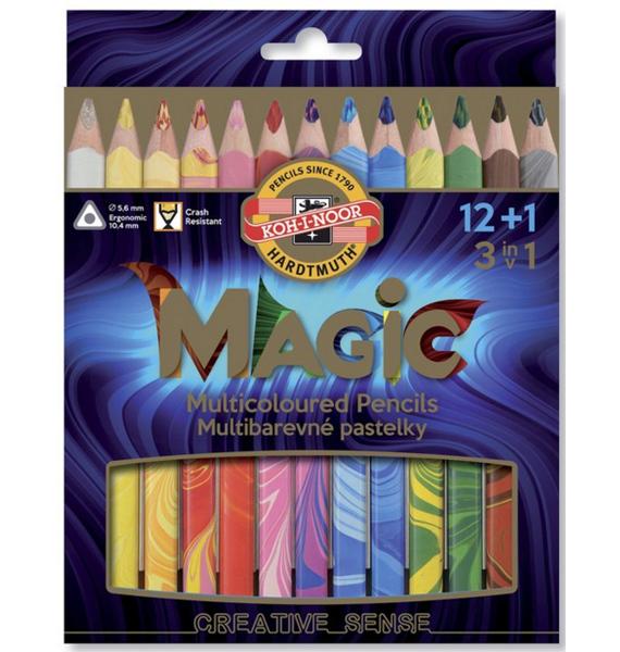 Pastelky Magic 3408 12+1ks trojhranné silné 957265