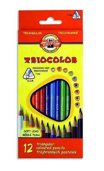 Pastelky Triocolor 3132 12ks trojhranné 900314