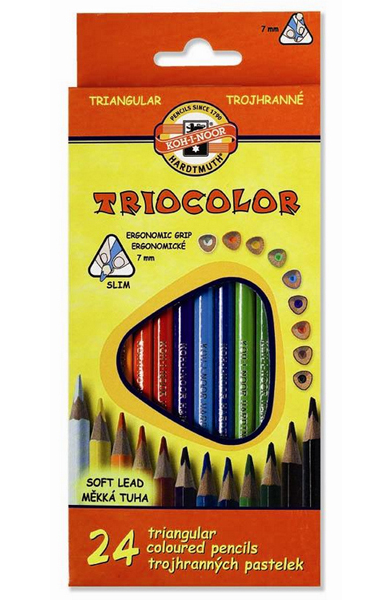 Pastelky Triocolor 3134 24ks trojhranné 929729