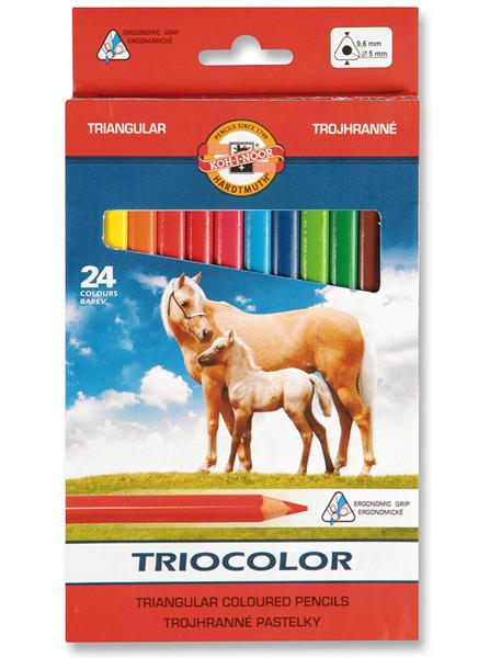 Pastelky Triocolor 3144 24ks trojhranné 931889