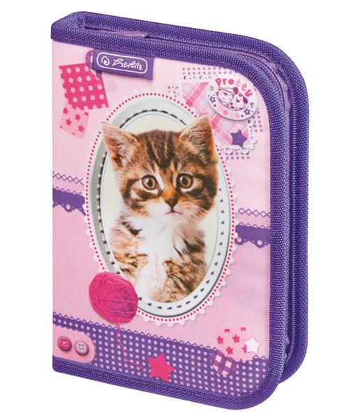 Penál jednopatrový plný Pretty Pets Kočka kocka