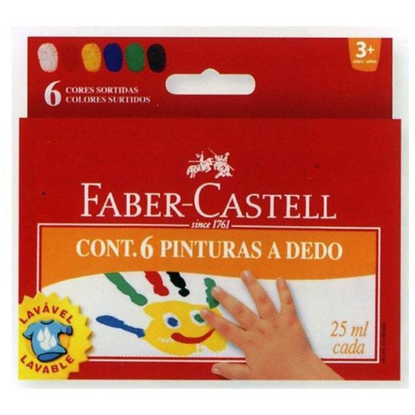 Prstové barvy Faber Castell 6ks 957386