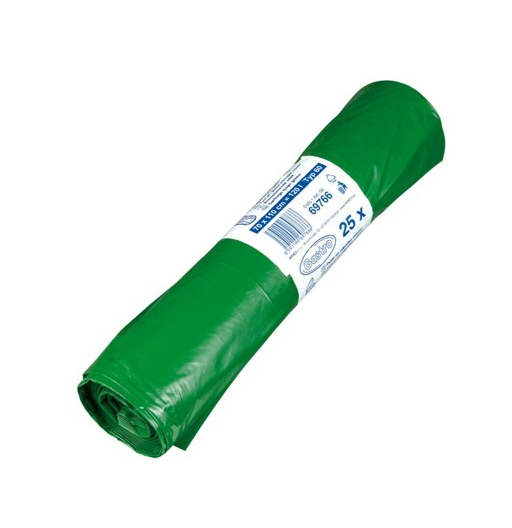Pytle na odpadky 120l 50 mic 25ks zelené 217010