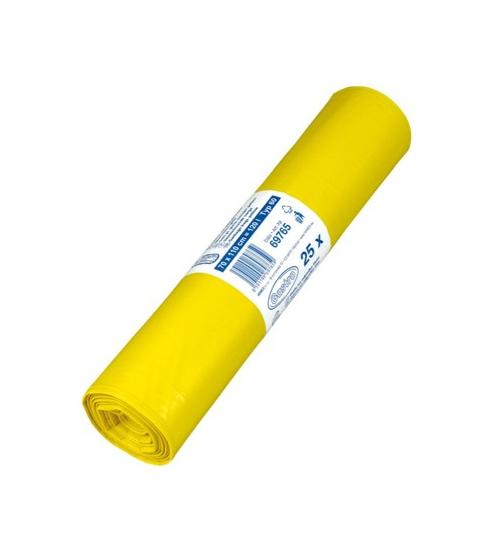 Pytle na odpadky 120l 50 mic 25ks žluté 217011