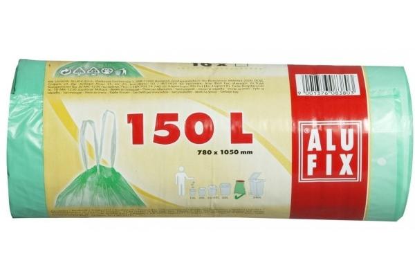 Sáčky na odpadky zatahovací 150l 10ks 310306