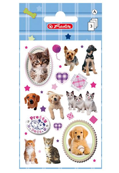 Samolepky dekorační Pretty Pets Pes a Kočka 302228