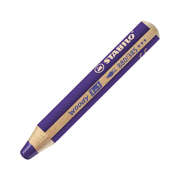 Stabilo woody 3in1 pastelka fialová 302980