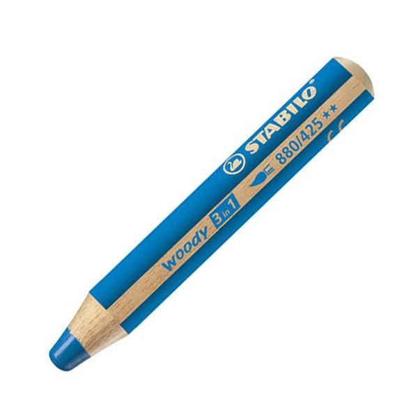 Stabilo woody 3in1 pastelka modrá 930429