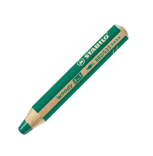 Stabilo woody 3in1 pastelka tmavě zelená 930430