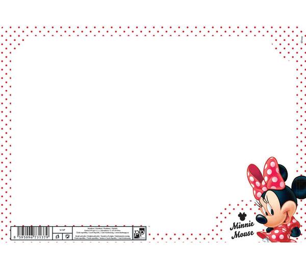 Stíratelná mazací tabulka A4 Minnie 301624