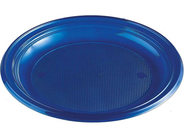 Talíře plastové barevné 22cm 10ks modré 956869