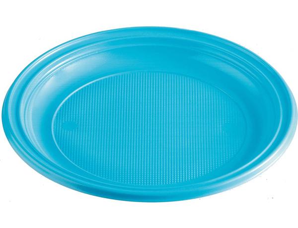 Talíře plastové barevné 22cm 10ks světle modré 956875