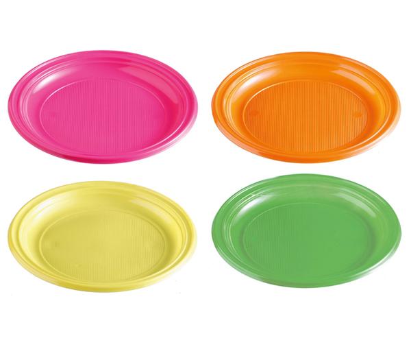 Talíře plastové barevné 22cm 20ks 957903